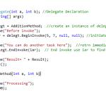 Call a method asynchronously using Delegate EndInvoke Pattern in Asp.net Part I