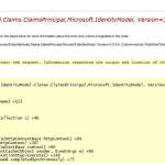Getting Type is not resolved for member Microsoft.IdentityModel.Claims.ClaimsPrincipal exception