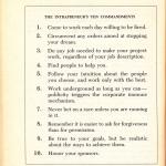 The Intraprenuers 10 commandments